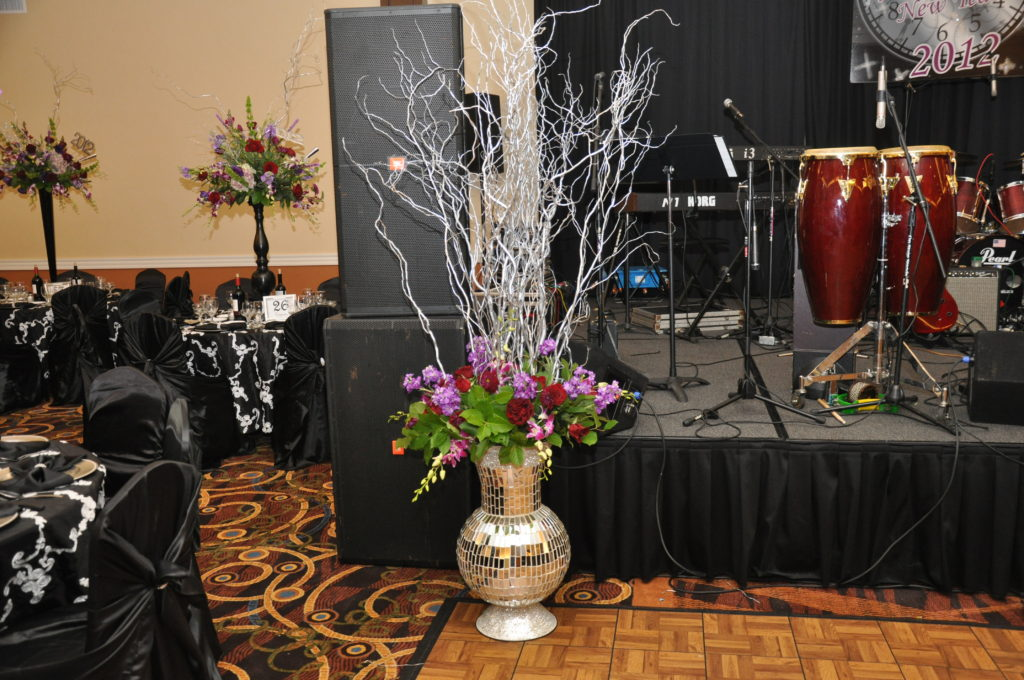 Grand Hall Stage Set up for Live Band or DJ