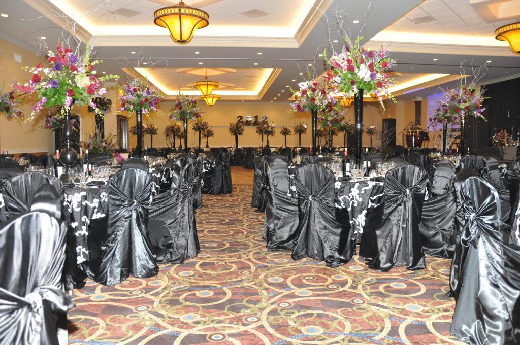 Grand Hall Formal Wedding Black & Silver